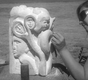 """Jardin secret"", pierre de taille, Agnieszka Targowska"