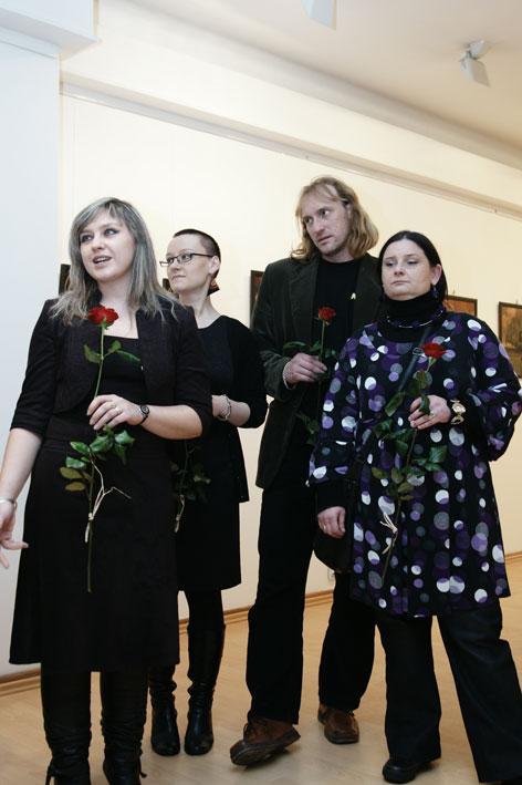 Les artistes: Agnieszka Targowska, Magda Filipiak, Mariusz Pacholak, Daria Górkiewicz