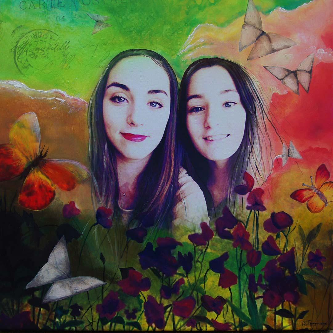 acrylique, impression sur toile