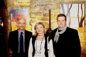 Agnieszka Targowska avec deux autres artistes: Jacques Hussin et Sebastien Boulanger