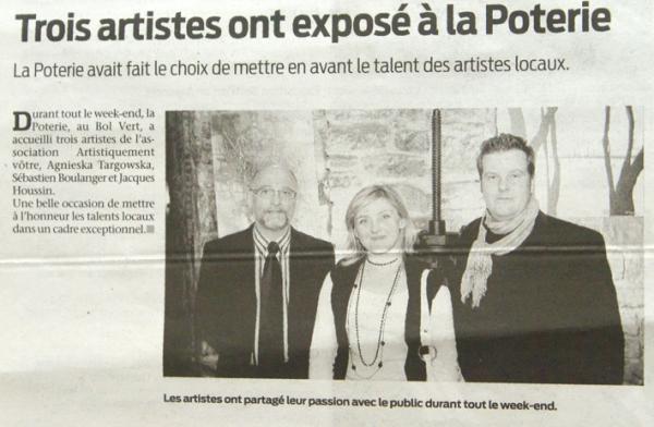 Exposition de la peinture, Centre Bol Vert, La Poterie
