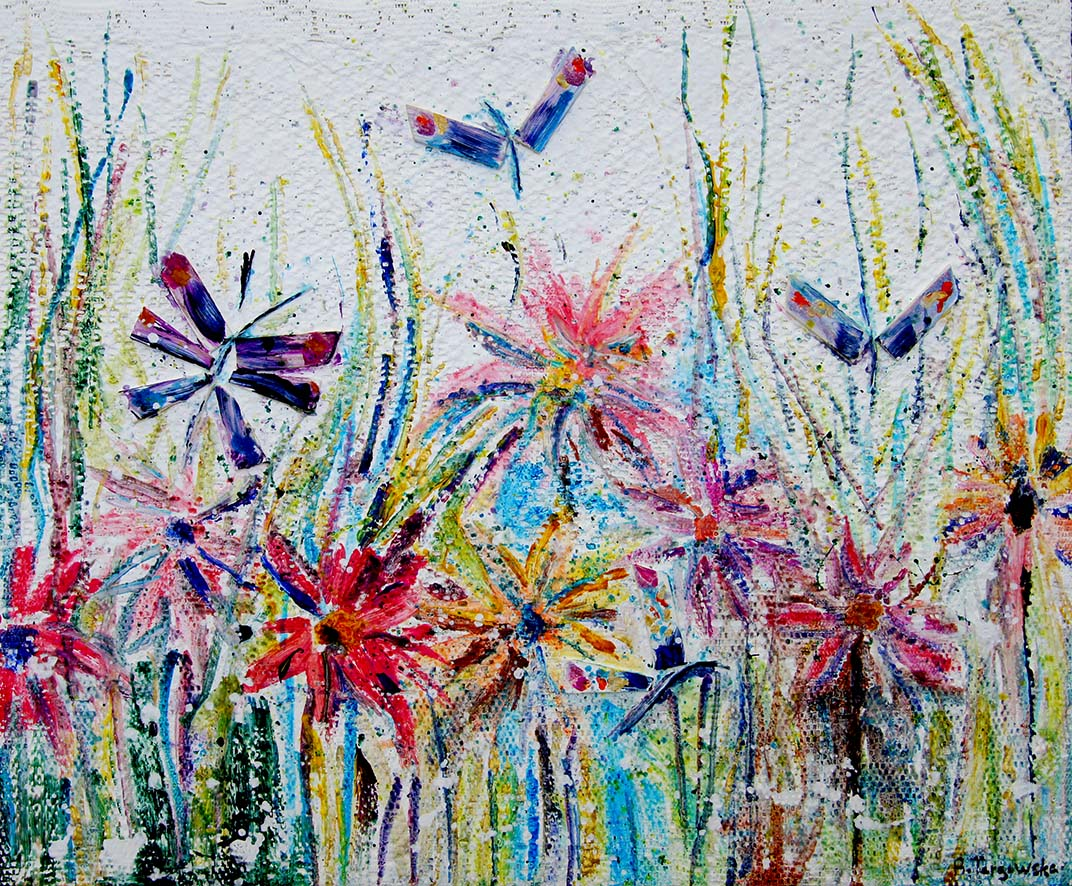 collage, acrylique sur toile, 54x65cm