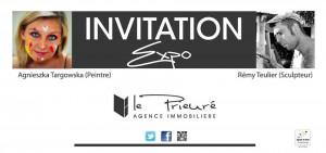 """exposition a l'agence immobiliere """"le Prieuré"""" a Albi"""