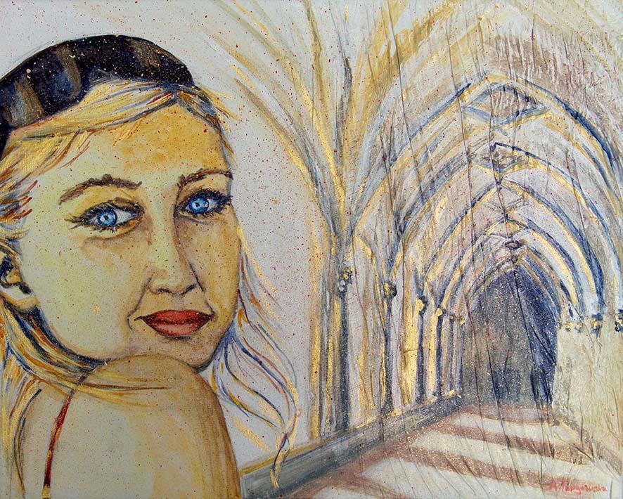 Agnieszka Targowska, peinture 2014, autoportrait